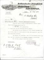 WIEN,1934 Fabrik Klosterneuburg - Holländische Firnisfabrik - Gebruder Alberdingk - Invoice Faktura - Austria Wien - Autriche