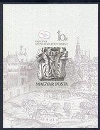 HUNGARY 1987 Stamp Day: Buda Castle Carvings Imperforate Block MNH / **.  Michel Block 191B - Blocks & Sheetlets