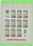 CHor - Cook Island - PO182** MNH De 1968 Feuille Complète. JAMES COOK Et Baie De MATAVAÏ -Tahiti.(Sydney Parkinson) - Cook