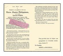 Z 337. E.Zuster PHILIPPINNE (T. WIRIX) - °ZONHOVEN 1896 / LUIK / +ST-TRUIDEN (Klein Seminarie) 1954 - Imágenes Religiosas