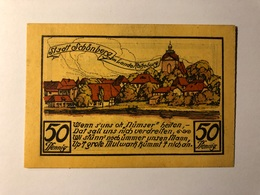 Allemagne Notgeld Schonberg 50 Pfennig - [ 3] 1918-1933 : République De Weimar