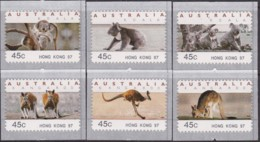 "Australia 1997 Counter Printed Labels ""Hong Kong '97"" Mint Never Hinged - 1990-99 Elizabeth II"