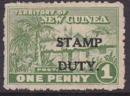 """New Guinea Ovpt """"Stamp Duty"""" No Gum - Papouasie-Nouvelle-Guinée"""