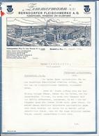 WIEN,1938 E.Z.BERNDORF - FIRMMERMANN ( E.Z. ) - BERNDORFER FLEISCHWERKE A. G.  - Invoice Faktura - Austria Wien - Autriche