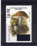 MADAGASCAR  1998  MNH -  CHAMPIGNONS / MUSHROOMS OVERPRINT  -  SURCHARGE N°1 - Funghi