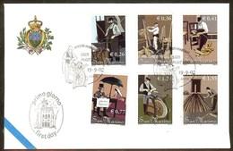 SAINT-MARIN FDC Des Timbres N°1825/1830 - FDC