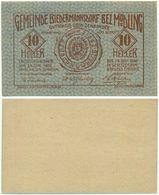 Biedermannsdorf Bei Mödling, 1 Schein Notgeld 1920, Siegel, Österreich 10 Heller - Oesterreich