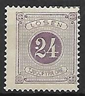 SUEDE    -   Timbre-Taxe   -   1874.   Y&T N° 7 * .  Cote 25,00 Euros. - Port Dû (Taxe)
