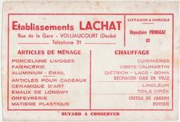 Buvard LACHAT / 25 Voujaucourt - Buvards, Protège-cahiers Illustrés