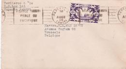 Lettre Tahiti (Papeete) - Timbre Océanie (France Libre)  N° 165 - 1948 - Tahiti