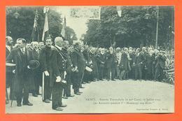 """CPA Nancy """" Rentrée Triomphale Du 20° Corps 27 Juillet 1919 Les Autorités Pendant L'hommage Aux Morts - Nancy"""