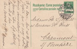 SUISSE 1922    ENTIER POSTAL/GANZSACHE/POSTAL STATIONERY    CARTE AVEC CACHET AMBULANT - Interi Postali