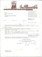 WIEN,1956 CHOCOLATE MANNER - JOSEPH MANNER COMP -  - Invoice Faktura - Austria Wien - Autriche