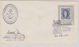 Argentina 1973 Ice Breaker San Martin Cover  Ca 29 Ene1973 Signature (41083) - Poolshepen & Ijsbrekers