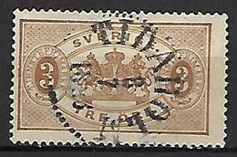 SUEDE    -   Timbre De Service   -    1874 .  Y&T N° 1 Oblitéré - Service