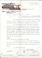 WIEN,1933 JULIUS MAGGI GESELLSCHAFT M.b.h. - MAGGIs Suppen Würze MAGGIs Rindsuppe Würfel  Invoice Faktura - Austria Wien - Austria