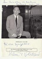 Autographe De Pierre Vaillard Chanteur Humoriste Français Sète - Autographs