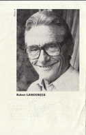 Autographe De Robert Lamoureux Acteur Théâtre Humoriste - Autographs