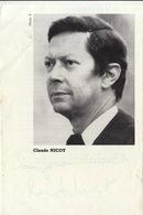 Autographe De Claude Nicot Acteur Cinema Metteur En Scène - Autographes