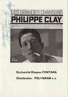 Autographe De Philippe Clay - Autographs