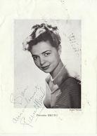 Autographe De Pierrette Bruno - Autographs
