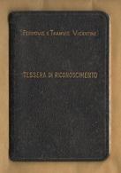 Vicenza FTV Ferrovie Tramvie Vicentine Abbonamento II° Classe 1962 Tratta Lumignano - Debba - Abbonamenti