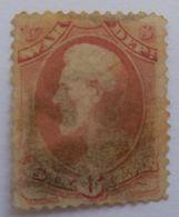 VERINIGTE STAATEN ÉTATS UNIS USA 1879 Lincoln  6c Ros Red, War, Soft Paper SC O117 - Gebraucht
