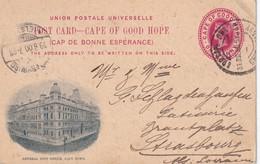 CAP DE BONNE ESPERANCE 1900  ENTIER POSTAL/GANZSACHE/POSTAL STATIONERY CARTE ILLUSTREE DE CAPE TOWN POUR STRASSBURG - Cape Of Good Hope (1853-1904)