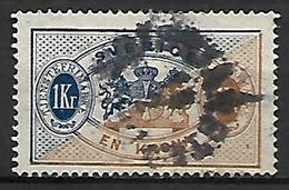 SUEDE    -   Timbre De Service   -    1874 .  Y&T N° 11 Oblitéré - Service