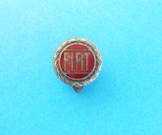 FIAT - Nice Rare Old Enamel Buttonhole Pin Badge * Car Automobile Auto Automobil Auto Anstecknadel Abzeichen Spilla - Fiat