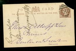 GREAT BRITAIN 1884 * POST CARD * STATIONERY * HALF PENNY (11.451b) - Postwaardestukken