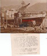 Photo De Presse 15 / 02 1950  Nice Grève Des Dockers Nicois Port De Nice Bateau Tafna Plusieurs Scanns - Schiffahrt - Hafen