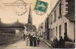44 SAINT-PHILBERT-de-GRAND-LIEU  Arrivée Par La Route De Machecoul - Saint-Philbert-de-Grand-Lieu