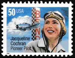 Timbre-poste Gommé Neuf** - Jacqueline Cochran Aviatrice Américaine - N° 2843 (Yvert) - États-Unis 1996 - Etats-Unis