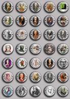 Writer Jean-Jacques Rousseau ART BADGE BUTTON PIN SET 1 (1inch/25mm Diameter) 35 DIFF - Celebrities