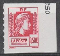 France Autoadhésif N° 43 ** Marianne D'Alger 60 éme Anniversaire - France