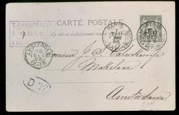 FRANKRIJK * CARTE POSTALE 10c * Gelopen In 1886 Van PARIS Naar AMSTERDAM (11.451c) - Postal Stamped Stationery
