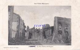 CPA  De NOMENY (54) - La RUE THIERRY De BOPPART - LES VILLES MARTYRES - 1915 - Nomeny