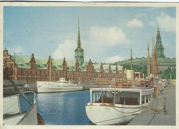 The Exchange - Christiansborg Castle. Ships In Port.  Copenhagen Denmark. B-3273 - Buildings & Architecture
