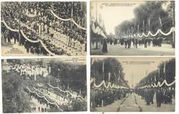 4 Cpa Nantes - Processions 1921, Décorations, Notables , ...  ( S.3053) - Nantes
