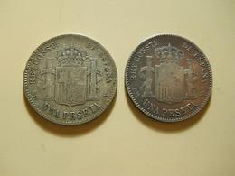 2 Coins * Spain 1 Peseta 1900 Silver - Vrac - Monnaies