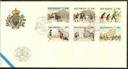 SAINT-MARIN FDC Des Timbres N°1906/1911 - FDC