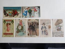 """Lot 7 CP's """"Bonne Année"""" - Années 1900/1910 - Nouvel An"""