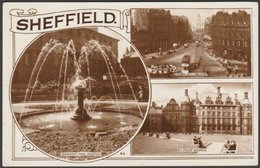 Multiview, Sheffield, Yorkshire, 1955 - Bamforth RP Postcard - Sheffield