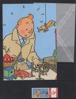 Set écriture Tintin / Kuifje : Duostamps + Enveloppe + Papier - Belgique