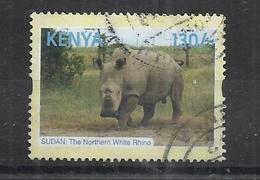 KENYA 2018 - LAST OF WHITE RHINOS - POSTALLY USED OBLITERE GESTEMPELT USADO - Kenya (1963-...)