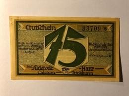 Allemagne Notgeld Suderode 75 Pfennig - [ 3] 1918-1933 : République De Weimar