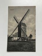 Carte Postale Ancienne Zevekote Moulin - Gistel