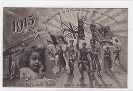 1915 - Bonne Année - Triomphe De La Civilisation & Paix Des Peuples - Cartes Postales