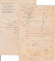 1884/85 - MANUFACTURE DE TAPIS - Thre VAYSON - Paris - Historical Documents
